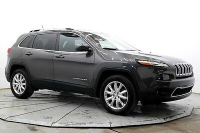 2015 Jeep Cherokee Limited 4WD Limited 4X4 Nav R Camera Leather Htd Seats Sat Radio Bluetooth Sunroof Must See
