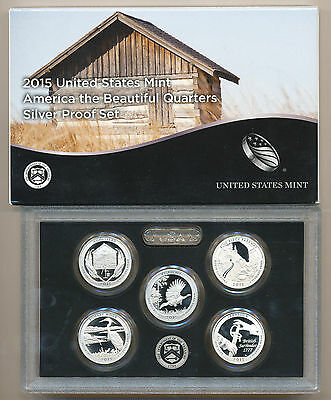 2015-S SILVER Quarter PROOF SET in FRESH Mint OGP box + certificate ..