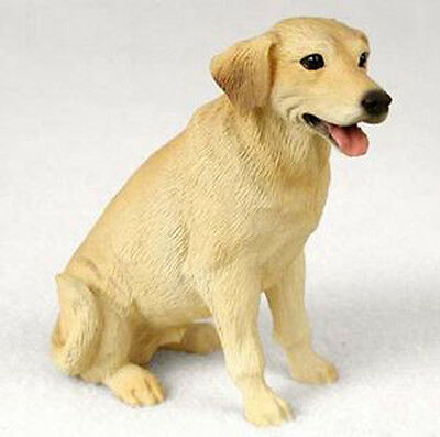 LABRADOR (YELLOW) LAB DOG Figurine Statue Hand Painted Resin Gift Pet Lovers