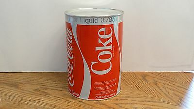 One Gallon COCA-COLA Coke Fountain Syrup Metal Can Sealed Empty