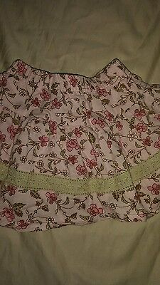 Jojo Maman Bebe baby girl sz. 6/12 month pink floral lined skirt. Pretty