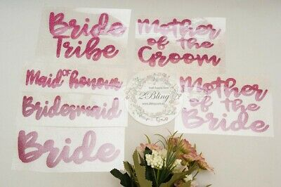 Iron on fabric transfer Mr & Mrs Wedding supplies Bride Bridesmaid