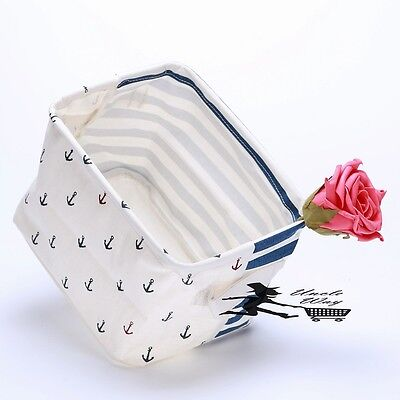 Storage bag beach style fabric bag nautical decoration navy anchor