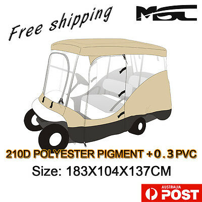 Msc 2 Seater Golf Cart Enclosure Yamaha Club Ez-Go Waterproof Cover Buggy