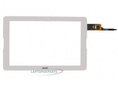 """Acer A5008 10.1"""" Tablet White Touch Screen Glass Front Outer Digitizer Panel New"""