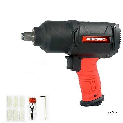 "Pneumatic Impact Wrench 1/2"" Air Pressure Wrench Gun Tool Torque 650ft-lb"