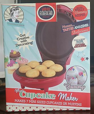 Good Old American Mini Cupcake Muffin Maker Retro 50's Diner Ruby Red