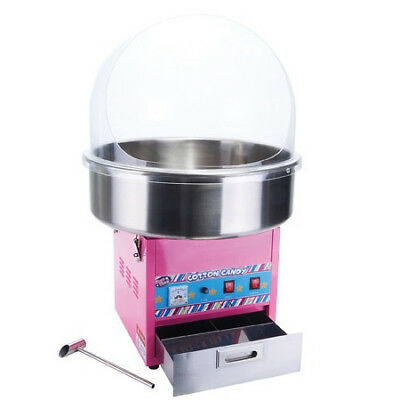 Winco CCM-28, Show Time Electric Cotton Candy Machine with 20.5-Inch Stainless S