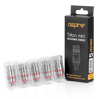 5 Genuine Aspire Triton Mini Replacement Coils Ni200 Temperature Control 0.15OHM