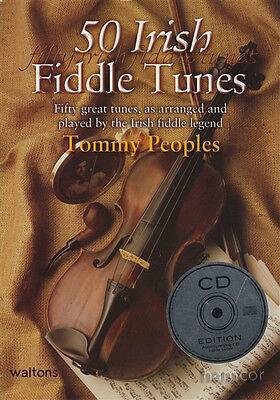 50 Irish Fiddle Tunes Tommy Peoples Sheet Music Book/CD