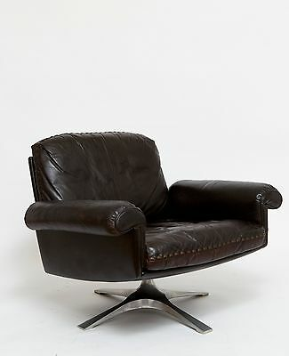 De Sede Lounge Chair swivel DS 31, Leder