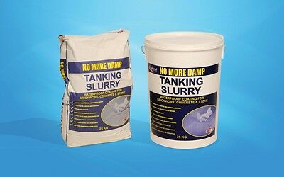 Tanking Slurry Grey  Damp Proofing Waterproof Membrane BBA Approved No More Damp