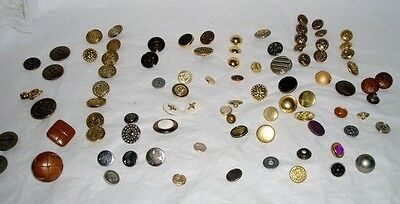 mixed lot buttons - sewing supplies -50 plus