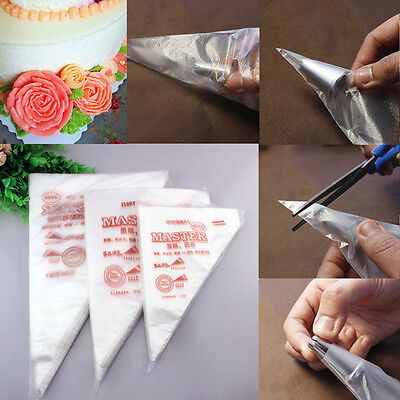 100Pcs Pastry Disposable Icing Piping Bags 3 Size Cream Bags Cake Decorting Tool