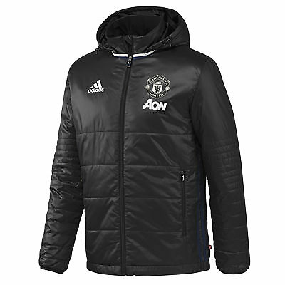 adidas Mens Gents Football Manchester United Training Padded Jacket - Black