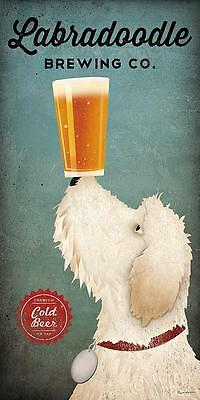 LABRADOODLE BREWING Co.DOG ART PRINT RETRO STYLE ADVERT POSTER Premium Cold Beer