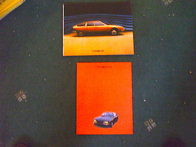 2 Brochures Citroen Cx 1976