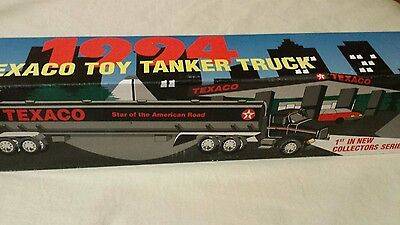 1994 Texaco Toy Tanker Truck  1st in new Collectors Series star of American Rd