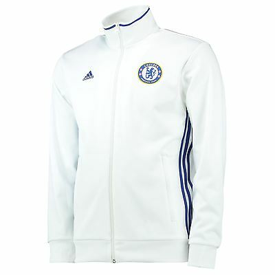 adidas Mens Gents Football Soccer Chelsea Core Track Top Jacket - White