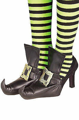Adult Shoe Tops Covers Gold Witch Pointed Toe Shoe Cover Costume Accessory