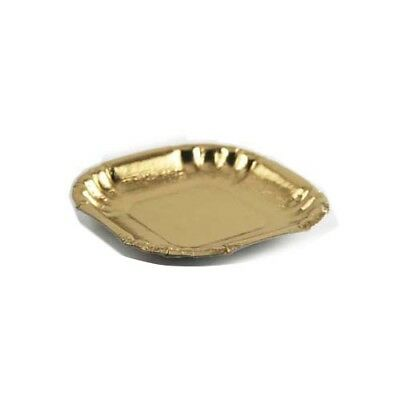 """Novacart Mini Square Gold Pastry & Cake Tray Size 3-15/16 x 3-15/16"""", Pack of 50"""