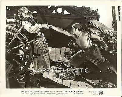 Tyrone Power George Sanders The Black Swan Orig Fox Film Still #1