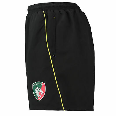 KooGa Childrens Kids Rugby Leicester Tigers Microfibre Gym Shorts Bottoms