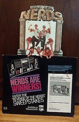 Vintage Revenge of the Nerds video store display 1985 RCA contest