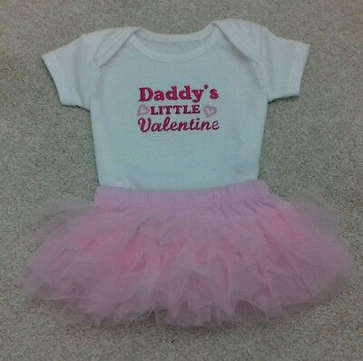 Personalised Baby ❤Clothes/Gifts/ Valentines outfit/Daddy's little Valentine ❤