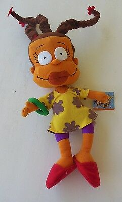 """Rugrats Nickelodeon Susie Suzy Carmichael Doll Toy Plush Tag Posable 13"""" Nanco"""