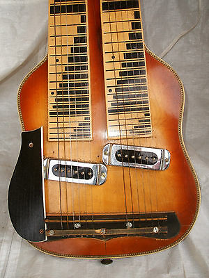 Old Otwin Double Lap Steel Guitar Alte Otwin Hawaii Gitarre Hawaiigitarre Rare