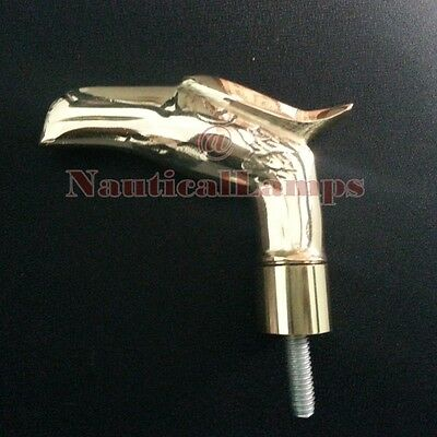 Cast Brass Eagle Head Handle for Cane Vintage Walking Stick w Thread Connector