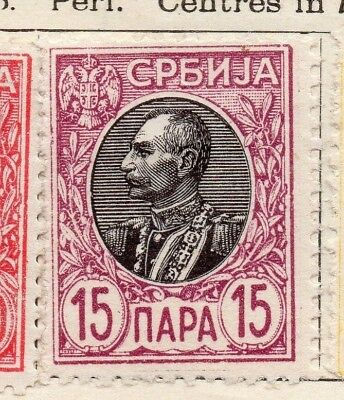 Serbia 1905 Early Issue Fine Mint Hinged 15p. 128153