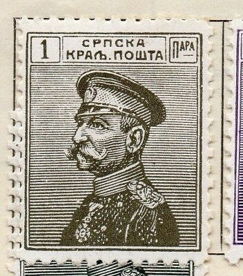 Serbia 1911 Early Issue Fine Mint Hinged 1p. 128161