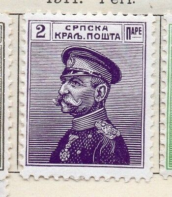 Serbia 1911 Early Issue Fine Mint Hinged 2p. 128162