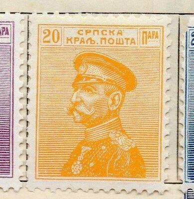 Serbia 1911 Early Issue Fine Mint Hinged 20p. 128166
