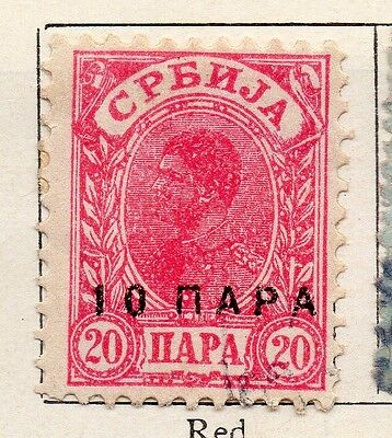 Serbia 1901 Early Issue Fine Mint Hinged 10p. Surcharged 128188