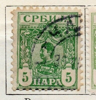 Serbia 1901-02 Early Issue Fine Used 5p. 128190