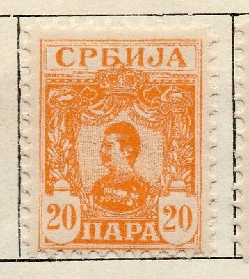 Serbia 1901-02 Early Issue Fine Mint Hinged 20p. 128194