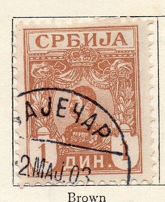Serbia 1901-02 Early Issue Fine Used 1d. 128198