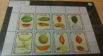 Aruba 2014 Fruits 8v block per scans MNH