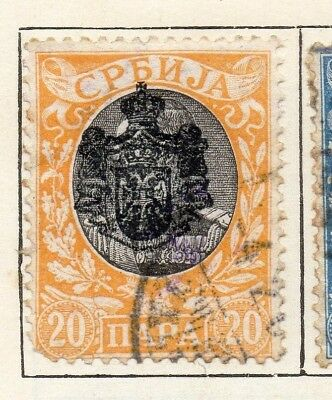 Serbia 1903  Early Issue Fine Used 20p. 128202