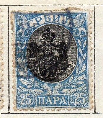 Serbia 1903  Early Issue Fine Used 25p. 128203
