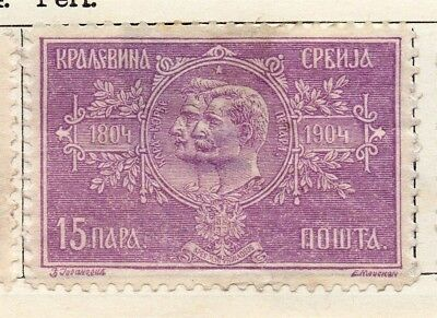 Serbia 1904 Early Issue Fine Mint Hinged 15p. 128207