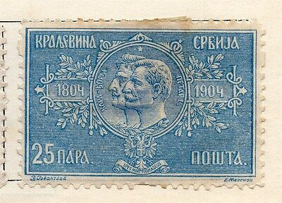 Serbia 1904 Early Issue Fine Mint Hinged 25p. 128208