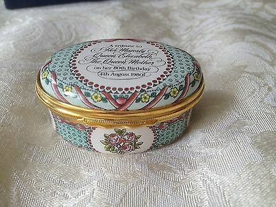 Vintage Halcyon Days Enamel Pill Box 1