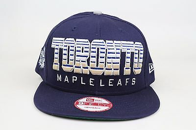 save off 42a85 f4659 ... uk toronto maple leafs fade snap navy blue white nhl new era 9fifty  snapback hat f3ceb ...