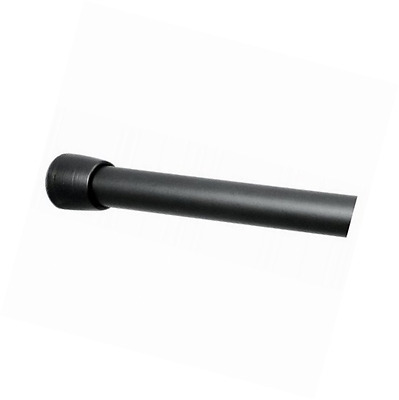 InterDesign Medium Cameo Shower Curtain Tension Rod, Matt Black