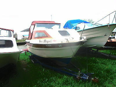 Weston 18Ft Motor Cruiser + Mercury 15Hp 4 Stroke E/start Outboard