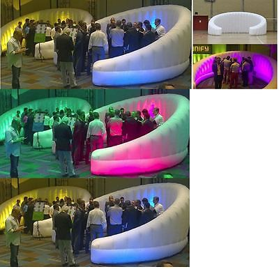 Custom made inflatable pop up trade show events oxford cloth LED Wall divider